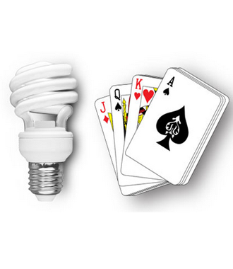 CFL LIGHT PLAYING CARDS DEVICE