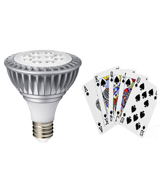 led light playing card